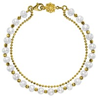 Dower And Hall Orissa Freshwater Pearl Bracelet Gold White