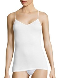 Hanro Sea Island Cotton Spaghetti Camisole White
