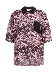 Aries Animal Print Bowling Shirt Pink Multi