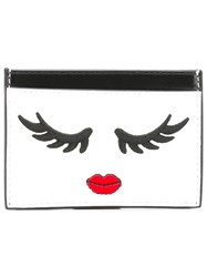 Alice Olivia Face Pattern Purse White