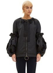 Marni Oversized Convertible Padded Jacket Black