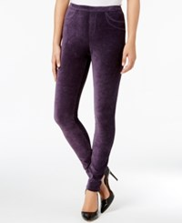 Style And Co Corduroy Leggings Created For Macy's Dark Grape