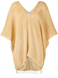 Forte Forte Cropped Sleeve Trapeze Sweater Women Linen Flax I Nude Neutrals