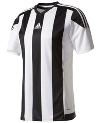 Adidas Men's Climacool Striped Soccer Jersey White Black