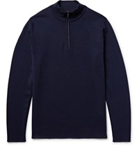 Nn.07 Nn07 Levi Wool Half Zip Weater Navy