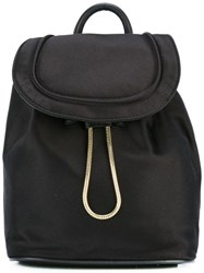 Diane Von Furstenberg Drawstring Flap Closure Backpack Black