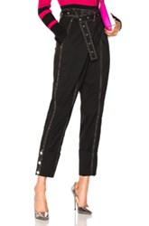 Proenza Schouler Lightweight Wool Suiting Cuffed Straight Pant In Black