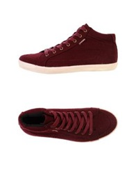 Pointer High Tops And Trainers Maroon