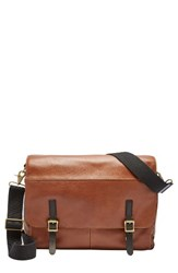 Fossil Men's Defender Leather Messenger Bag