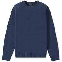 A.P.C. Glasgow Crew Knit Blue