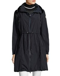 Moncler Livarot Hooded Lightweight Jacket Navy