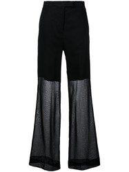 Yang Li Elegant Wide Trousers Women Cotton 44 Black