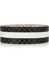 Balmain Quilted Leather Belt Black