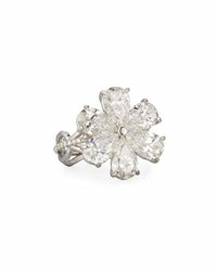 Rahaminov Diamonds Modern Pear Shaped Diamond Flower Ring