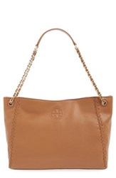 Tory Burch 'Marion' Slouchy Shoulder Tote Brown Bark