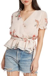 Willow And Clay Floral Faux Wrap Top Ballet