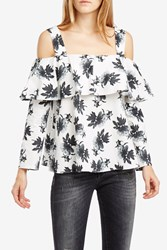 Paul Joe Women S Nerval Floral Off The Shoulder Top Boutique1 White