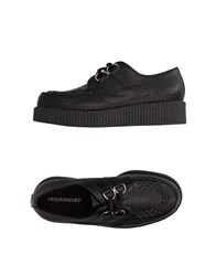 Underground Lace Up Shoes Black