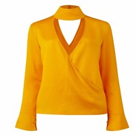 Conflict Of Ego Amy Silk Blouse Gold