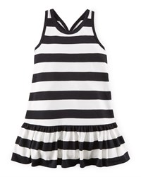 Ralph Lauren Childrenswear Sleeveless Striped Racerback Dress Nevis Size 2 6X Girl's Size 6 Nevis Multi