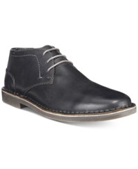 Kenneth Cole Reaction Consignment Men's Desert Sun Pebbled Leather Chukka Boots Men's Shoes Black