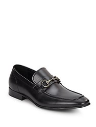 Kenneth Cole Reaction Switch Over Leather Bit Loafers Black