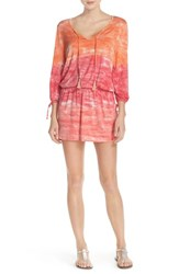 Women's Green Dragon 'Palais' Print Tunic Cover Up