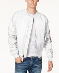 Ring Of Fire Men's Fly Weight Bomber Jacket Created For Macy's White
