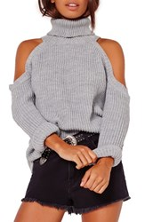 Missguided Women's Cold Shoulder Turtleneck Sweater