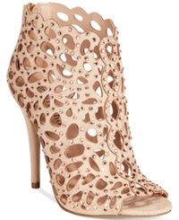 Zigi Soho Darlah Caged Rhinestone Shooties Women's Shoes Cinnamon