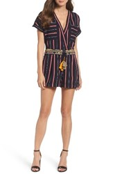 French Connection Women's Hasan Stripe Romper