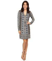 Hale Bob A Common Thread Jersey Dress Taupe Women's Dress