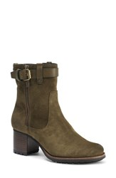 Trask 'Madison' Short Boot Olive Waterproof Suede