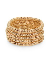 Saks Fifth Avenue Mesh Slip On Bracelet Set Gold