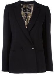 Etro Double Breasted Blazer Black