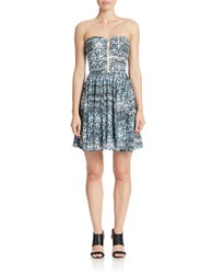 Guess Abstract Print A Line Dress Black Multi