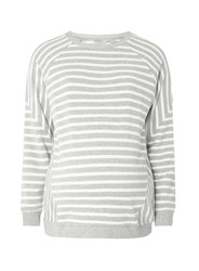 Dorothy Perkins Maternity Grey And Ivory Stripe Sweatshirt