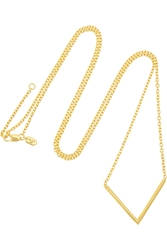 Maria Black Long Check Gold Plated Necklace