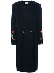 Temperley London Creek Tailored Long Coat Women Cotton 10 Black