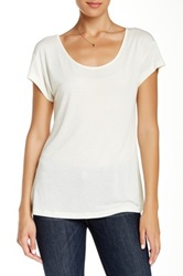 Haute Hippie Zipper Back Tee White
