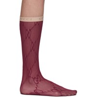 Gucci Red Lace Gg Socks