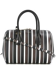Nina Ricci Striped Tote Black