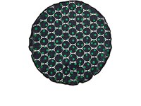 Alexander Olch Men's Dotted Cotton Lace Pocket Round Navy Green