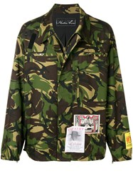 Martine Rose Camouflage Print Jacket Green
