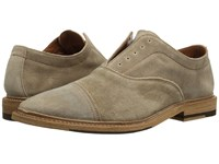 Frye Paul Bal Oxford Ash Washed Waxed Suede Shoes Beige