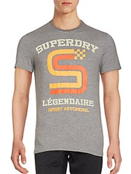 Superdry Crewneck Printed Tee Dark Grey