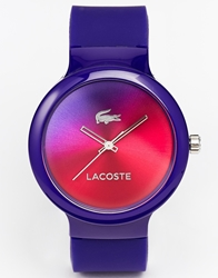 Lacoste Goa Ombre Face Silicone Strap Watch 2020079 Purple