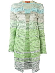 Missoni Knitted Cardi Coat Green