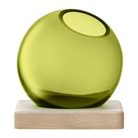 Lsa International Axis Vase And Ash Base Olive Green Small