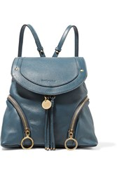 See By Chloe Olga Medium Textured Leather Backpack Storm Blue
